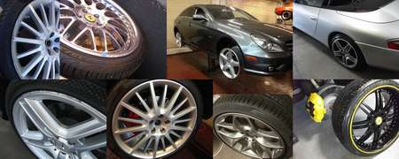 Wheel repair and refinishing -  Scottsdale,  Phoenix, Arizona