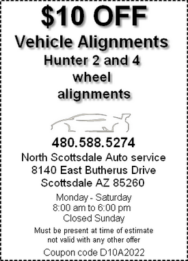Coupon - vehicle alignments