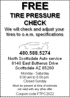 Coupon - tire pressure check