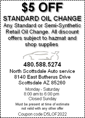 Coupon - standard oil change