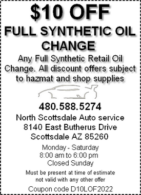 Coupon - synthetic oil change