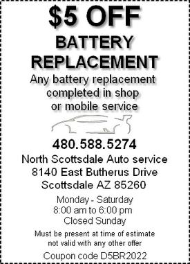 Coupon - battery replacement