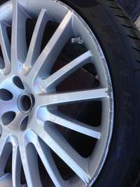 We can repair and refinish your factory painted wheels.